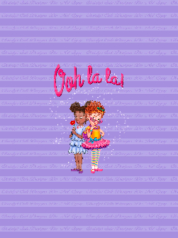 Retail - CL - Ooh La La Friends (Purple) Panel 21x28