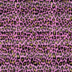 RETAIL - Pink Cheetah Print 1 yard cuts