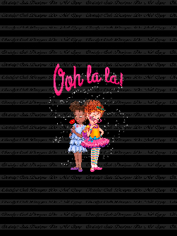 Retail - CL - Ooh La La Friends (Black) Panel 21x28