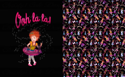 Retail - Minky - Ooh La La (Black) only Nancy Child Topper