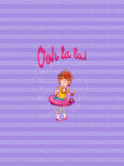 Retail - CL - Ooh La La only Nancy(Purple) Panel 21x28