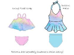 FEATURED - Brilliant Halter/Swing Swim Watercolour Rainbow
