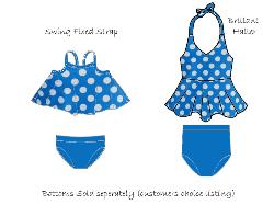 FEATURED - Brilliant Halter/Swing Swim Aqua Dots