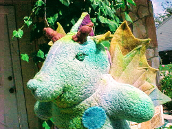 Rainbow Dragon Waldorf Animal by Hillcountry Dollmaker