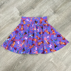 size 12 Circle Skirt - Fancy Nancy Purple