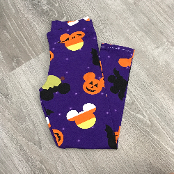 size 6 Leggings - Purple Halloween