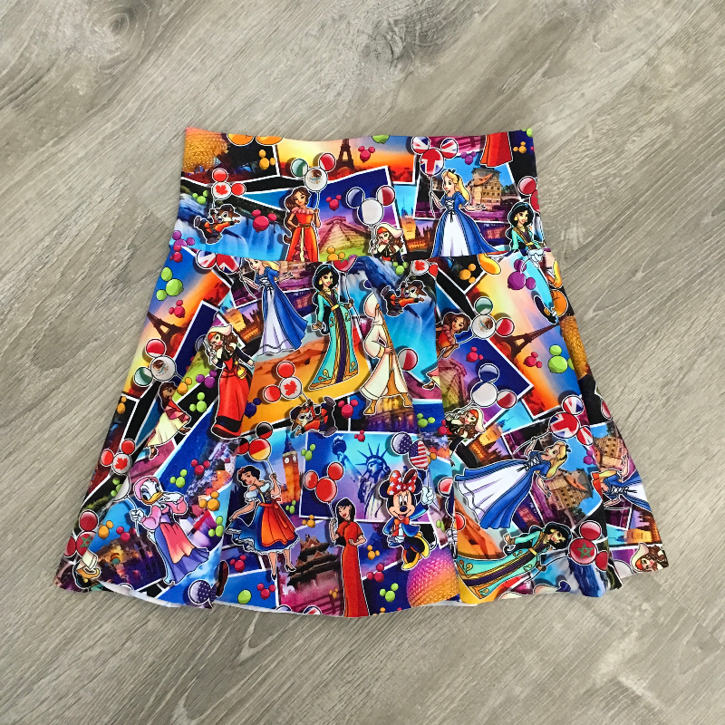 size 7 Circle Skirt - World of Adventures