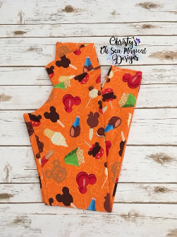 Adult Medium Legging - Snacks 2.0 - Orange