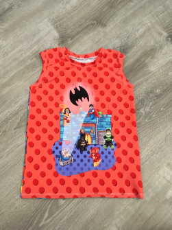 5t Boy Tank Top - Red Lego DC