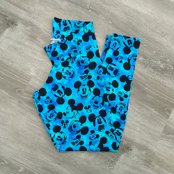 Adult XXL Legging - Blue Mickey Heads