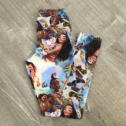size 7 Leggings - Moana