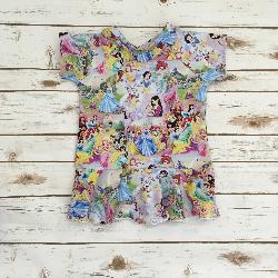 size 6  - Short Sleeve Peplum - Princesses