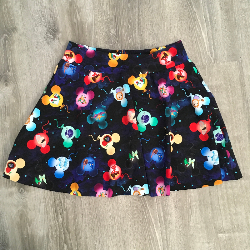 Adult Small Circle Skirt -  Soaring Midnight Madness