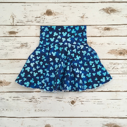 Size 4t - Mickey Head - Blue Circle Skirt