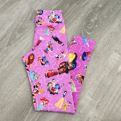 size 8 Leggings - Pink Magical Quote