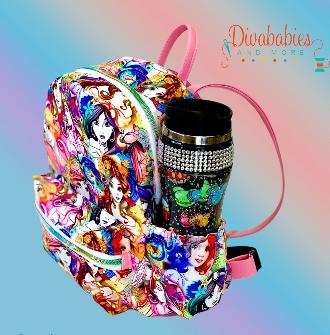 Custom Princess Sketchy Mini Backpack