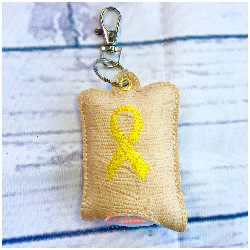 Yellow Support Ribbon Hand Sanitizer Case
