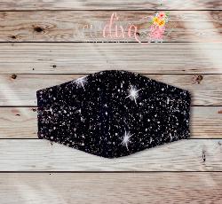Custom Black Glitter Face Mask