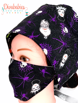 Custom Villains Surgical Cap & Mask Set