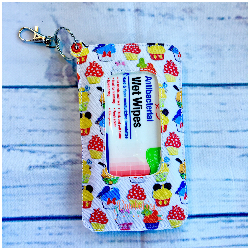Character Cupcakes Travel Wipe Case