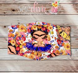 Custom Freeda Floral 3-D Mask