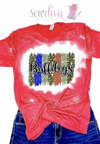 Custom Bleached Bulldogs Leopard Sparkle Shirt