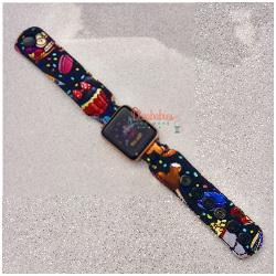Black Snacks Watch Band