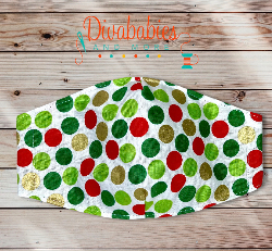 Custom Polka Dots Christmas Face Mask