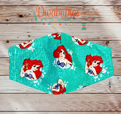 Custom Swimming Mermaid Face Mask
