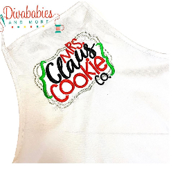 Custom Embroidered Mrs Claus Christmas Apron