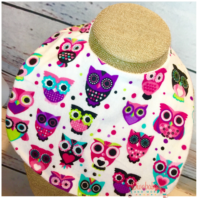 Girls Owl Bib