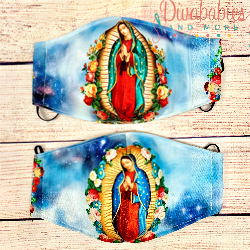Custom Sewn Blessed Mother Face Mask