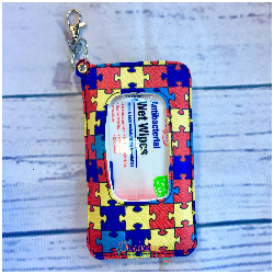 Autism Puzzle Piece Travel Wipe Case