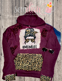 Custom Mom Life Leopatd Hoodie