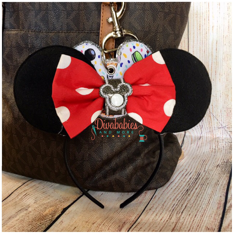 Black Silo Mouse Ear Holder