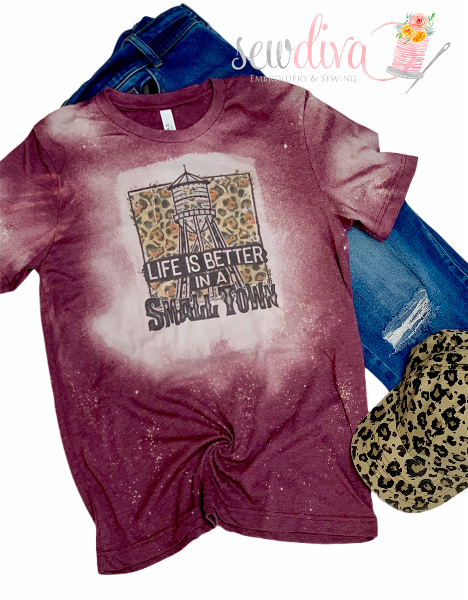 Bleached Leopard Small Town Life Shirt