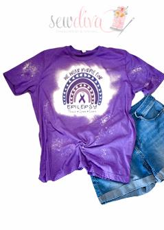 Custom Bleached Epilepsy Shirt