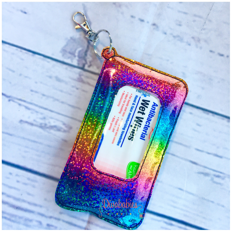 Glitter Rainbow Travel Wipe Case