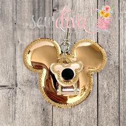 Gold Mouse Ear Holder
