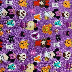 Custom Purple Glitter Girls Halloween Face Mask