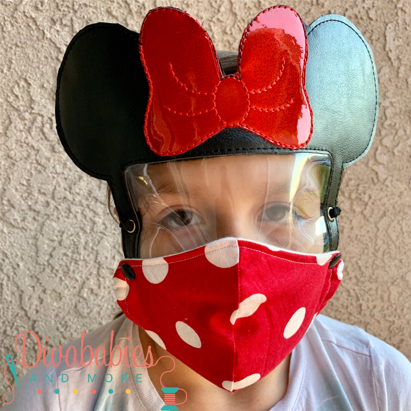 Custom Mrs Mouse Face Shield and Mask
