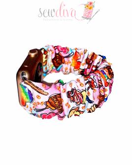 Custom Rainbow Snacks Scrunchie Watch Band