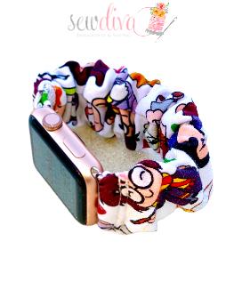 Custom HP Characters Scrunchie Watch Band