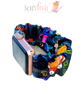 Custom Gray Hats Scrunchie Watch Band