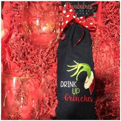 Drink Up Wine Bottle Bag
