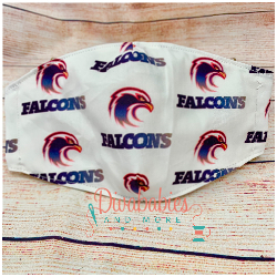 Custom Sewn Falcons Face Mask