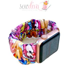 Custom 80's Cartoons Scrunchie Watch Band