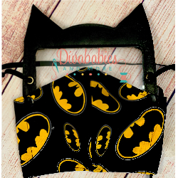 Custom Bat Guy Face Shield and Mask