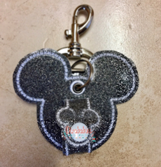 Black Glitter Mouse Ear Holder