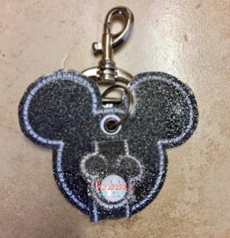 Black Glitter Mouse Ear Holder